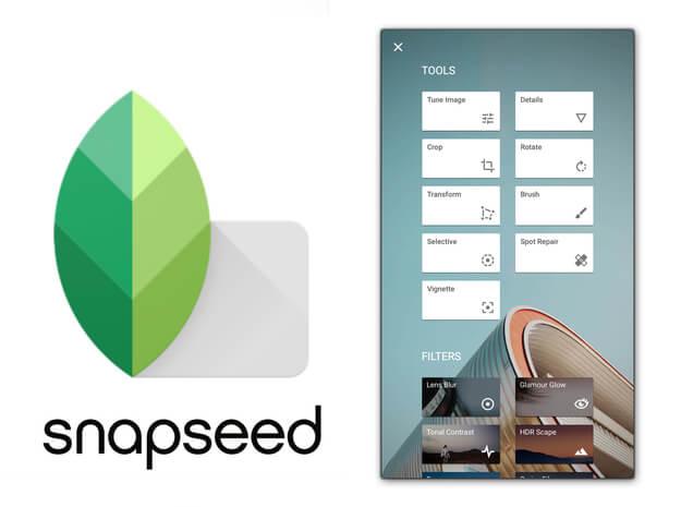 Бесплатный редактор Snapseed на iPhone