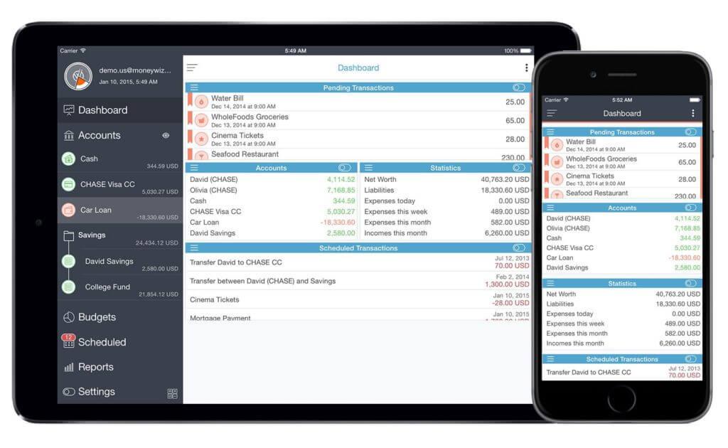 MoneyWiz 2 на iPhone