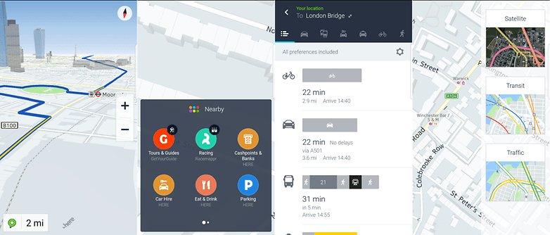 Приложения-навигатор HERE WeGo