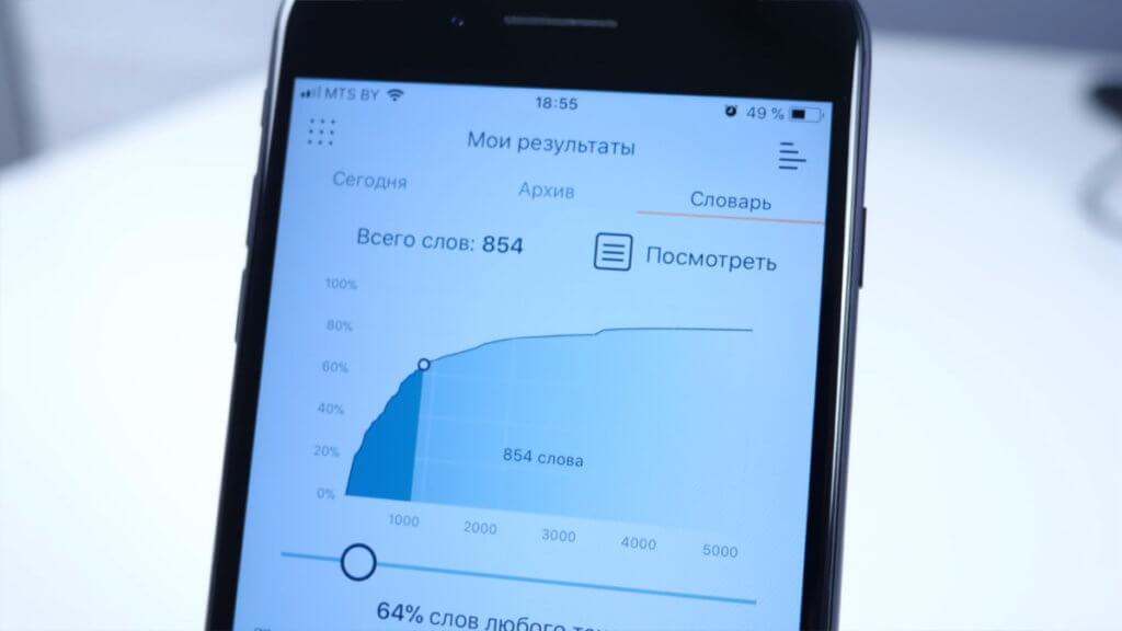 Приложение Lingvist на Андроид