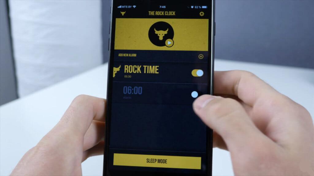 Приложение The Rock Clock